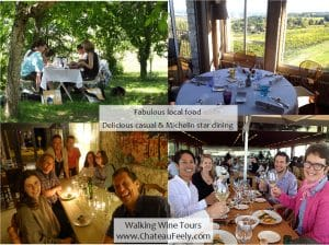 Food and wine walking tour France
