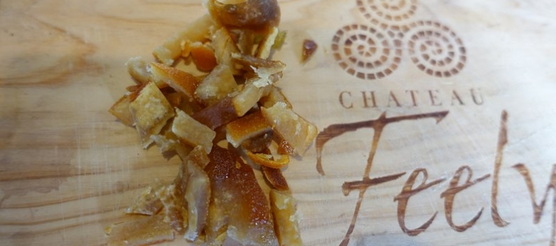Easy delicious gift: homemade organic candied peel with dark chocolate