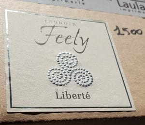Feely Liberte rose label