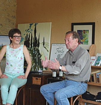 Glass Half Full launch: Martin Walker interviews Caro Feely