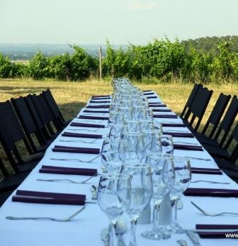 Un dîner dans les vignes, une soirée magique