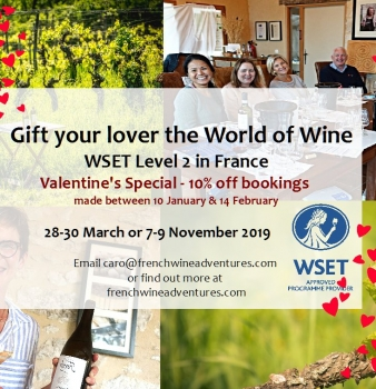 Gift your Valentine the world of wine with WSET Level 2